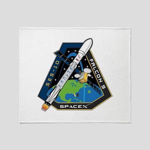 SES-10 Launch Team Throw Blanket