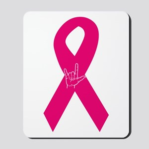 Breast Cancer Ribbon Mousepad