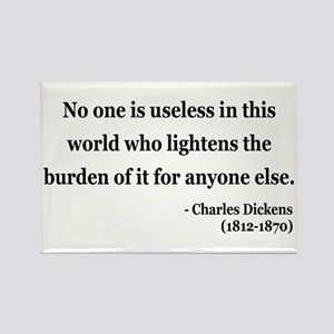 Charles Dickens 1 Rectangle Magnet
