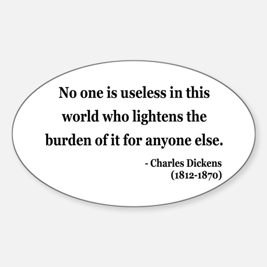Charles Dickens 1 Oval Decal