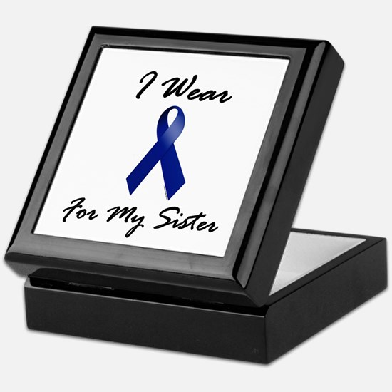 I Wear Blue For My Sister 1 Keepsake Box