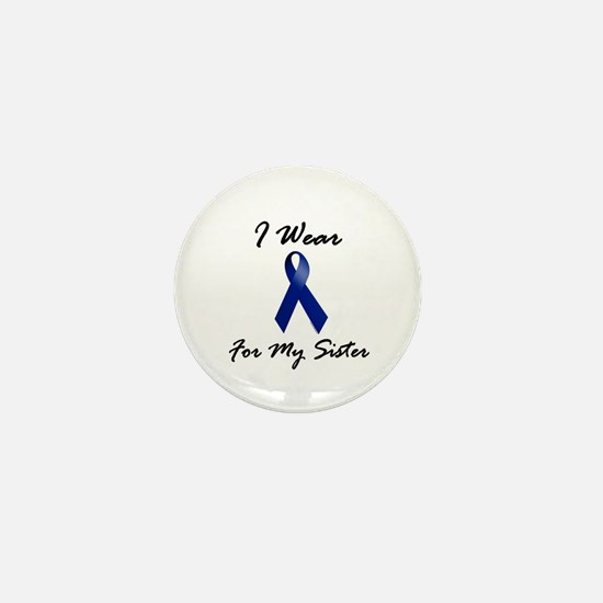 I Wear Blue For My Sister 1 Mini Button