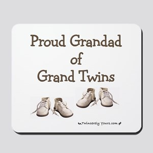 Proud Grandad of Grand Twins Mousepad