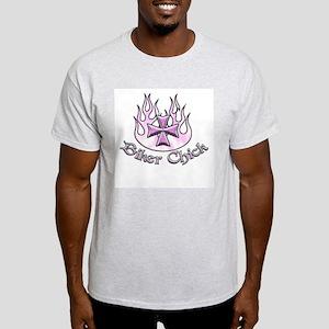 Biker Chick Ash Grey T-Shirt