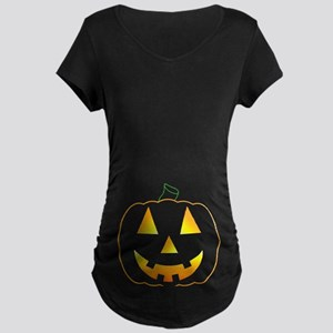 Halloween Baby Bump Maternity Dark T-Shirt