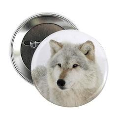 """White Wolf 2.25"""" Button"""