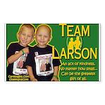 Team Larson Rectangle Sticker