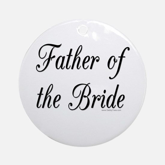 """Father of the Bride"" Keepsake (Round)"