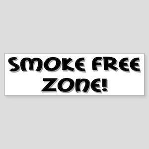 Smoke Free Zone! Bumper Sticker