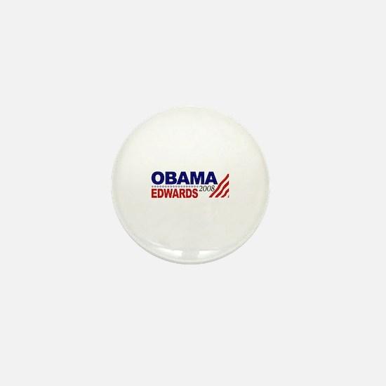 Obama Edwards 2008 Mini Button