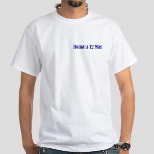 Navy Romans 12 Man White T-Shirt