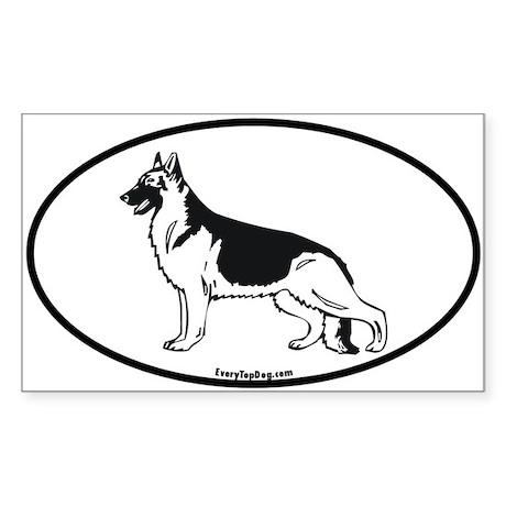 German Shepherd Rectangle Sticker