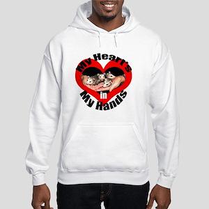 Heart In My Hands Opossum Hooded Sweatshirt