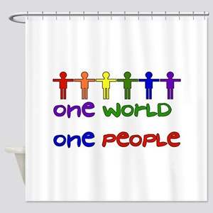 One World One People Shower Curtain