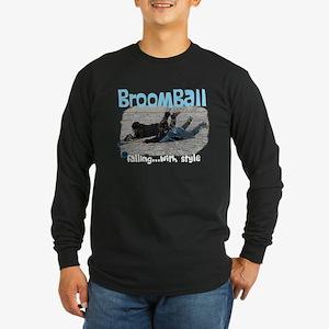 Broomball Style Long Sleeve Dark T-Shirt