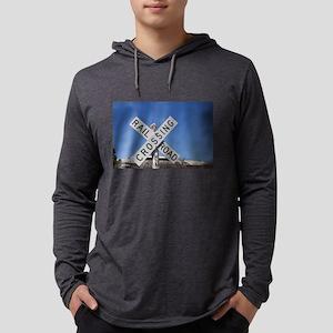 Vintage railroad crossing sign Long Sleeve T-Shirt