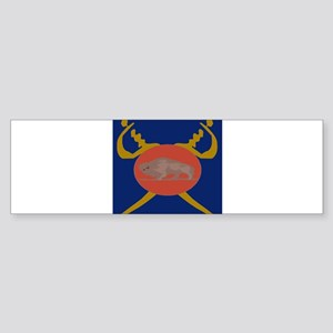 Buffalo Soldier Badge Bumper Sticker