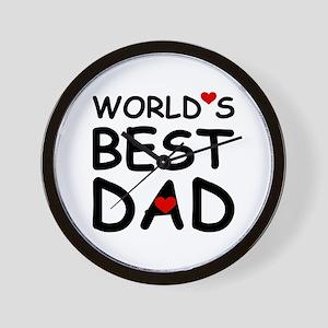 WORLD'S BEST DAD Wall Clock
