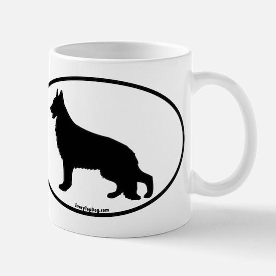 Silhouette German Shepherd Mug