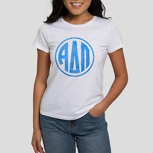 Alpha Delta Pi Circl Women's Classic White T-Shirt