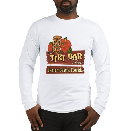 Jensen Beach Tiki Bar - Long Sleeve T-Shirt