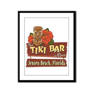 Jensen Beach Tiki Bar - Framed Panel Print