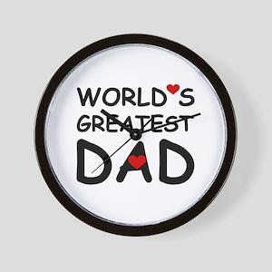 WORLD'S GREATEST DAD Wall Clock