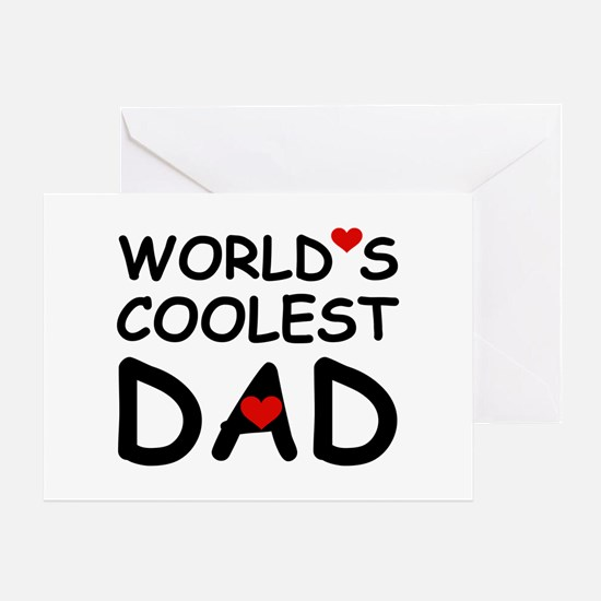 WORLD'S COOLEST DAD Greeting Card