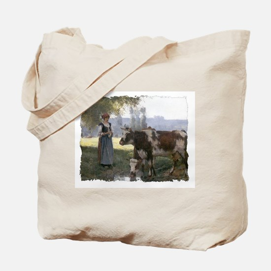 Pastoral Knitters Tote Bag