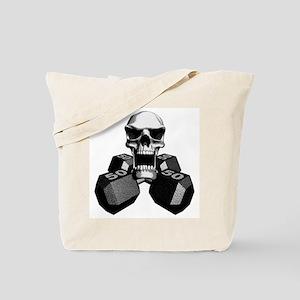 Workout Skull Tote Bag