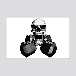 Workout Skull Mini Poster Print