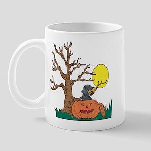 Halloween Pumpkin Doxie Mug