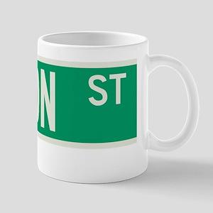 Fulton Street in NY Mug