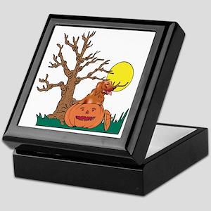 Pumpkin Irish Setter Keepsake Box