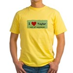 HAPPY 4OTH ANNIVERSARY TAYLOR Yellow T-Shirt