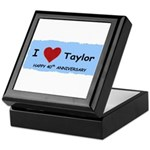 HAPPY 4OTH ANNIVERSARY TAYLOR Keepsake Box