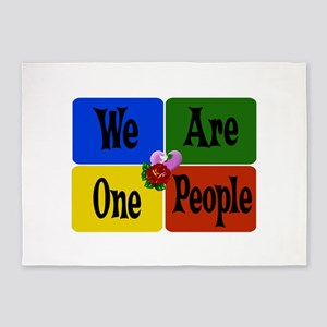 We Are One People 5'x7'Area Rug