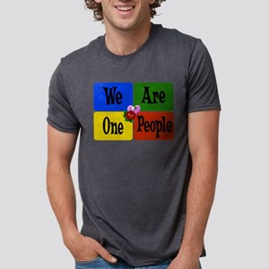 We Are One People Mens Tri-blend T-Shirt