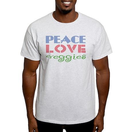 Peace Love Veggies Light T-Shirt