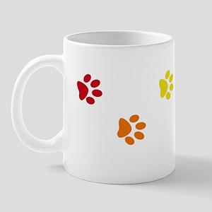 Rainbow paw prints Mug