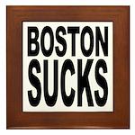 Boston Sucks Framed Tile