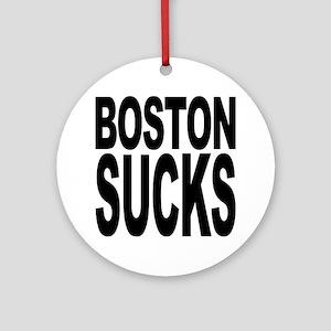 Boston Sucks Ornament (Round)