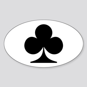 Clubs! Oval Sticker