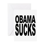 Obama Sucks Greeting Card