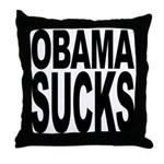 Obama Sucks Throw Pillow