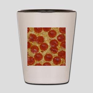 big pepperoni pizza Shot Glass