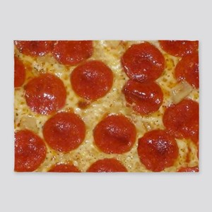 big pepperoni pizza 5'x7'Area Rug