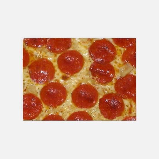 big pepperoni pizza 5'x7'Area Rug