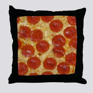 big pepperoni pizza Throw Pillow
