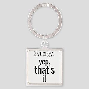 Synergy... yep, that's it. Keychains